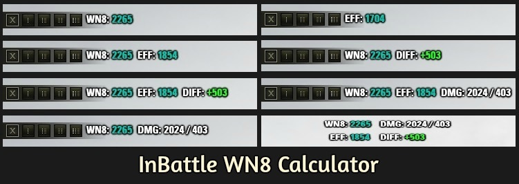 1 0 2 1 InBattle WN8 Calculator, EFF, Damage | – WoT by Hjundaj