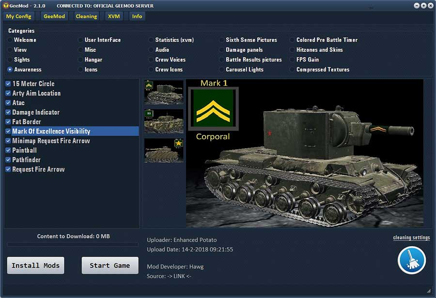 1 1 0 1 GeeMod 2 Legal ModPack _ – WoT by Hjundaj